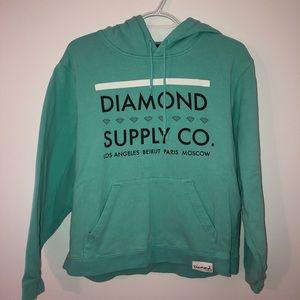DIAMOND SUPPLY CO. Teal Hoodie